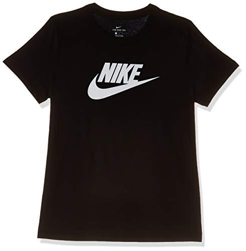 Nike Damen W NSW Tee ESSNTL ICON Futur T-Shirt, Black/(White), L