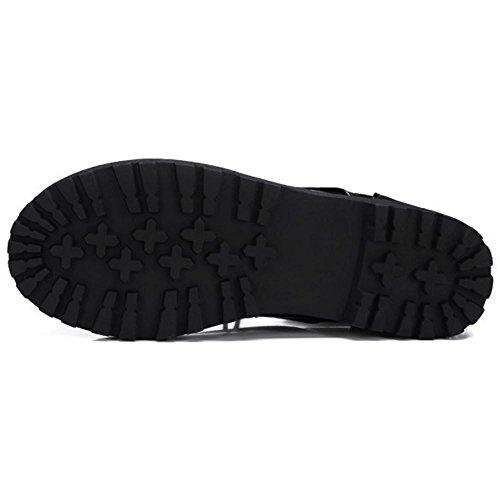 TAOFFEN Stivali Martin Donna Modello Scarpe Stringate Basse 1386 Black