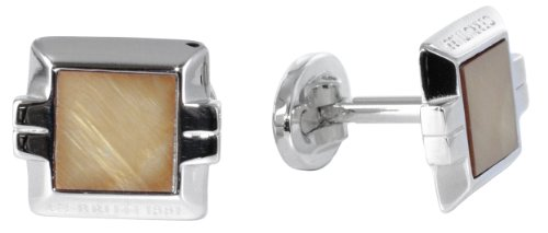 Price comparison product image Cerutti Men's Cufflinks Stainless Steel Rhodium-Plated CTCF10009.B