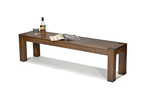 Sitzbank ,,Rio Bonito,, 160x38cm, Bank Massivholz Pinie, geölt und gewachst, Farbton Cognac braun, Optional: passende Tische Bank Für Esstisch