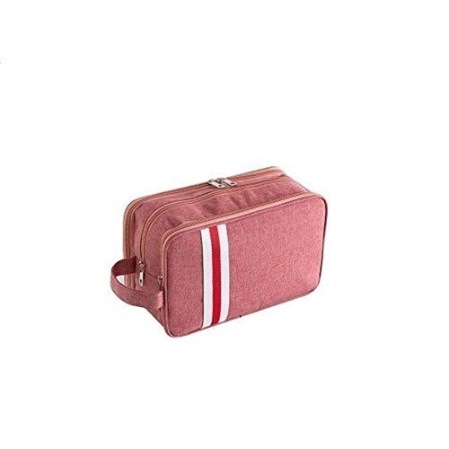 12-in-1 Eye (JINSEQ Classic Travel Cosmetic Bag Organizer Tragbare wasserdichte Kosmetiktasche for Frauen Männer Kosmetiktasche for Make-up Necessaire (Color : Pink, Tamaño : L))