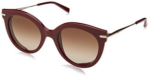 Max mara mm needle vi ha 6k3 50, occhiali da sole donna, rosso (burgund gold/bw brown)