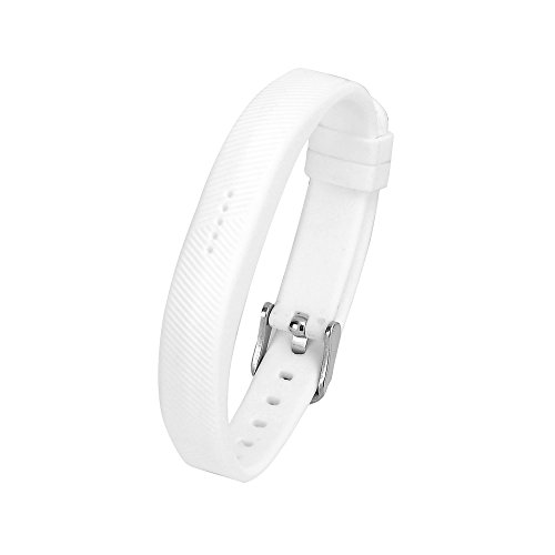 eFithy Replacement Wearable Accessory Silicone Wristband for Fitbit Flex 2 (NO Tracker)-White