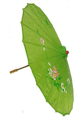 R F SRLS Chinese Umbrella Green Umbrella Party Fancy Dress Costume Wood  Fabric 72fd2ae1e24d