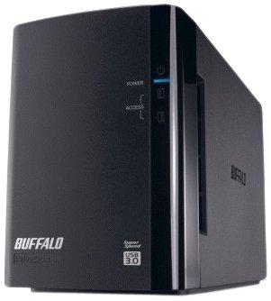 Buffalo DriveStation Duo HD-WL4TU3R1-EU 4TB externe USB-Festplatte (8,9 cm (3,5Zoll), 2-Bay, 7200rpm, 32 MB Cache, USB 3.0)