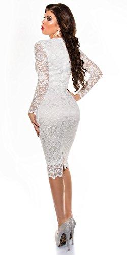 Sexy KouCla Midi-Kleid mit Spitze Koucla by In-Stylefashion SKU 0000K1840401 Weiß