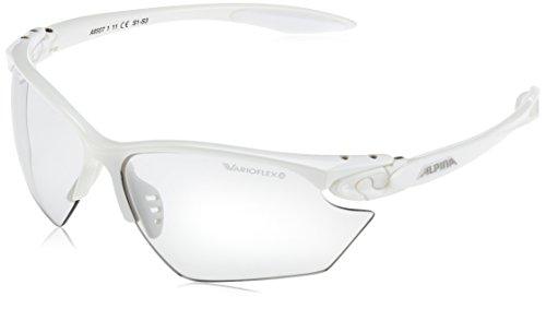 ALPINA Sonnenbrille Performance TWIST FOUR S VL+ Outdoorsport-brille, White, One Size