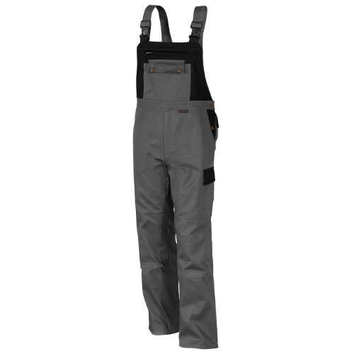 Qualitex Image-Latzhose Mischgewebe 65% Baumwolle 35% Polyester 3105/5-8 102,Grau-Schwarz