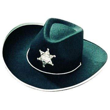 KKO101576210 Hut Cowboy schwarz mit Stern für Kinder ()