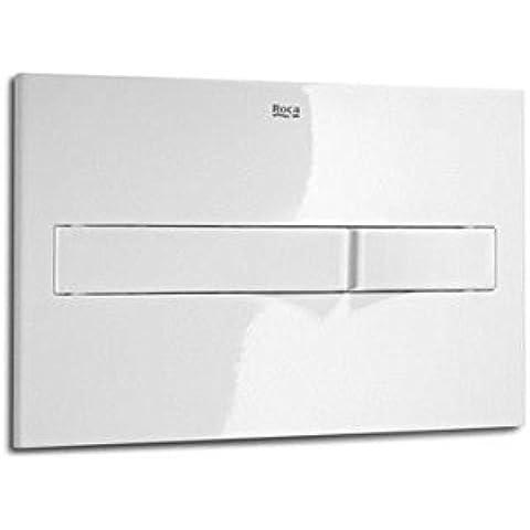 Roca In-Wall A890096000-Piastra di azionamento PL2 Dual, colore: bianco