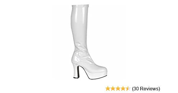 41ad6f11b60e White Patent Platform Fancy Dress Boots - Size UK 8  Amazon.co.uk  Shoes    Bags