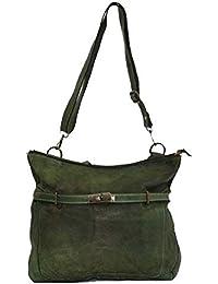 3497f14706d99 BZNA Bag Salma grün Italy Designer Damen Handtasche Ledertasche  Schultertasche Tasche Leder Shopper Neu