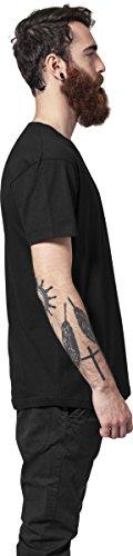 Urban Classics Herren T-Shirt Shaped Long Tee mit Rundhals Schwarz (Black 7)