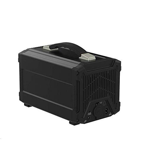 YIYIXIN Power Station 300W Quiet Gas Frei Solar Generator QC3.0 UPS Lithium-Netzteil Mit 220V /110V AC-Steckdose, 4 DC-Ports, 4 USB-Ports, LED-Taschenlampen Für Camping Reise,Schwarz,300W288wh -