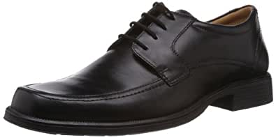 Clarks Mens Formal Shoes Handle Spring - Black Leather - UK Size 6 - EU Size 39 - US Size 7