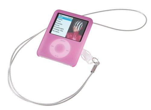 Vivanco Silikonhülle mit Lanyard für iPod nano 3 pink Ipod Nano 3. Generation