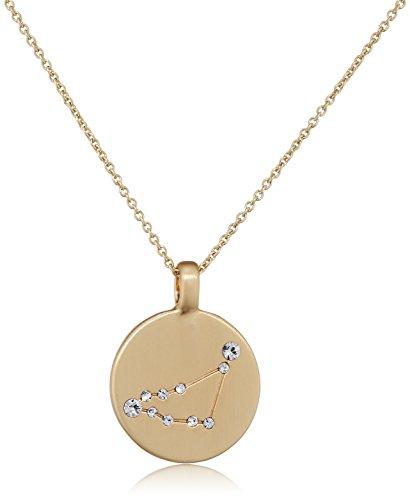Pilgrim Damen-Kette mit Anhänger teilvergoldet Kristall weiß Rundschliff 27 cm - 521612121