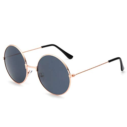 Sport-Sonnenbrillen, Vintage Sonnenbrillen, New Womens Round Sunglasses Retro Gold Silver Black Frame Unisex Eyewear Female Male Sun Glasses For Men Oculos Gafas A4066-x10