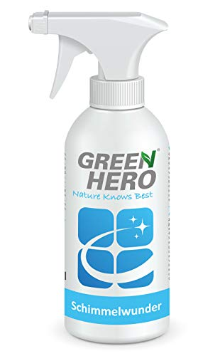 Green Hero Schimmelwunder, 500 ml, Schimmelentferner ohne Chlor, chlorfrei, Für Bad, Wand, Holz, Tapete u.v.m, mit Salicylsäure und Langzeitwirkung
