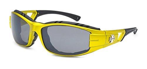 Choppers 5Zero1 Mode Rennen Sport Motorcyclist Schaumstoff gepolstert Sonnenbrillen 1 60 Mittel Sport Gold Gelb