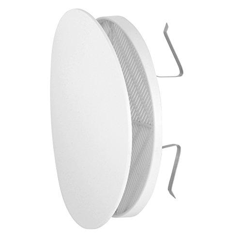 La Ventilazione FUTUR125X Griglia di Ventilazione Estetica in Plastica con Molle, Bianco, diametro 170 mm