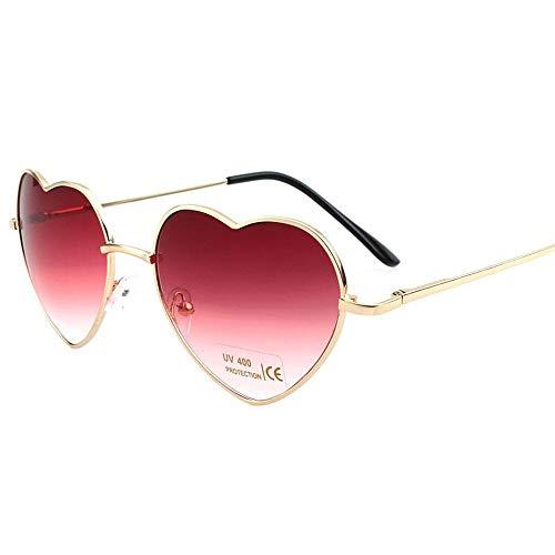 ZMK-720 Sonnenbrillen Damen Sonnenbrille Damen Herz Sonnenbrille Damen Herz Brille Trend Metall @ C