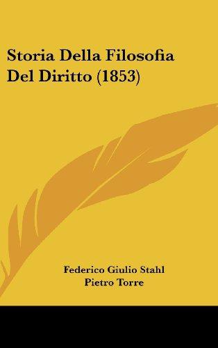 Storia Della Filosofia del Diritto (1853)