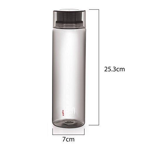 Cello H2O Unbreakable Pet Bottle , 1 Litre, Set of 3
