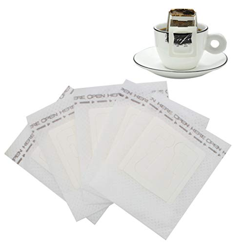 SIPLIV Papierkaffeefilter Einweg-Einzelbecherfilter Kaffeefilter hängende Ohrtropfen Vlies Kaffee Teebeutel Reisekaffeemaschinen - 100 Stck