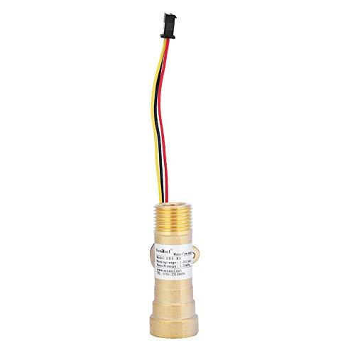 Durchflusssensor, DC5V G1 / 2 Wasserdurchflusssensor Durchflussmesser Elektronischer Messing-Durchflusswächter 1-30L / min für Thermostat-Warmwasserbereiter, Wasserfilter - Elektronische Durchflussmesser
