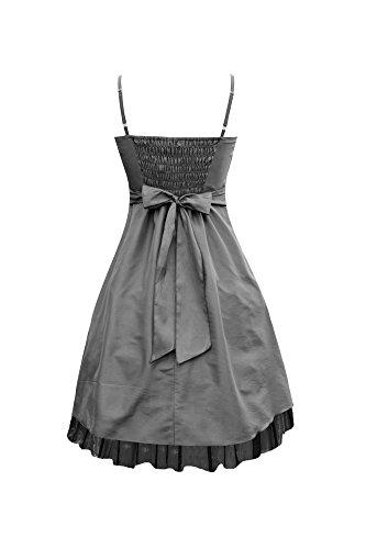 Black Butterfly \'Sia\' Satin Essence Abschlussballkleid Silber ...
