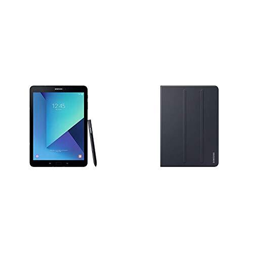 Samsung Galaxy Tab S3 T825 24,58 cm (9,68 Zoll) Touchscreen Tablet PC schwarz inkl S Pen & Tablet Tasche EF-BT820PBEGWW Book Hülle (geeignet für Galaxy Tab S3, SM-T820, SM-T825) schwarz (Tablet Samsung Galaxy 3g 4g Lte)