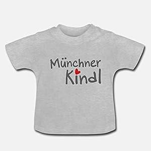 Baby T-Shirt >Münchner Kindl< / Unisex, Jungen, Mädchen, Grau, blau, pink, weiß, blau, München, Bayern, Ostern, Easter…