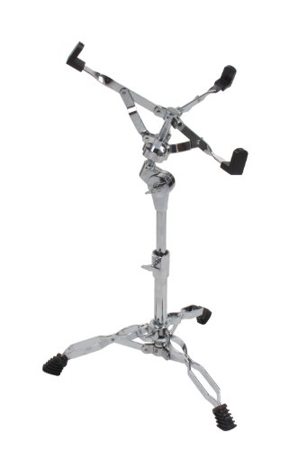 XDrum Snare-Ständer Stage (doppelstrebig, Höhenverstellbar 48-63cm, Gummifüße, Rastergelenk für Neigung, stabil) Drum Stand