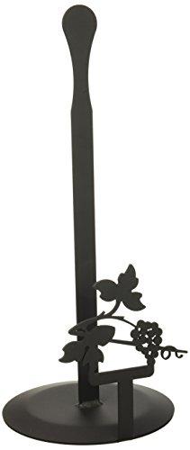 Village Schmiedeeisen 35,6cm Grapevine, schwarz, Papier Handtuch Ständer Grapevine Geschirr
