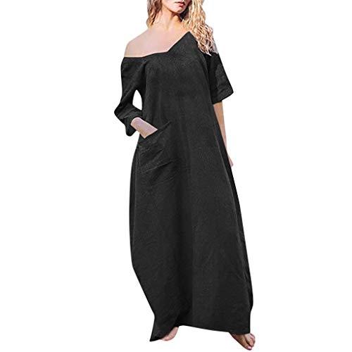 iYmitz Sommer Frauen Maxikleid Beiläufige Style Feminino Vestido Kleider Bohemian Baumwolle Lässig Plus Größe Heißer Rock Für ()