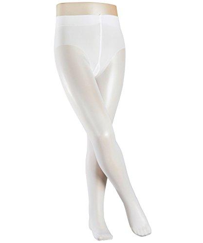 FALKE Kinder Pure 30 Denier Matte Strumpfhose 1 Paar transparente Feinstrumpfhose, white, 134-146 (Aussehendes Süß Mädchen)