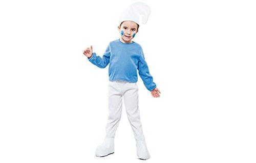 Fyasa 706184-t00GNOME Fancy Dress Kostüm, blau, klein (Gnome Kostüm Kind)
