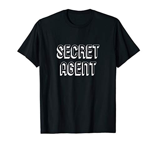 Secret Agent Lazy Halloween Kostüm lustig T-Shirt (Agent Secret Kostüm)