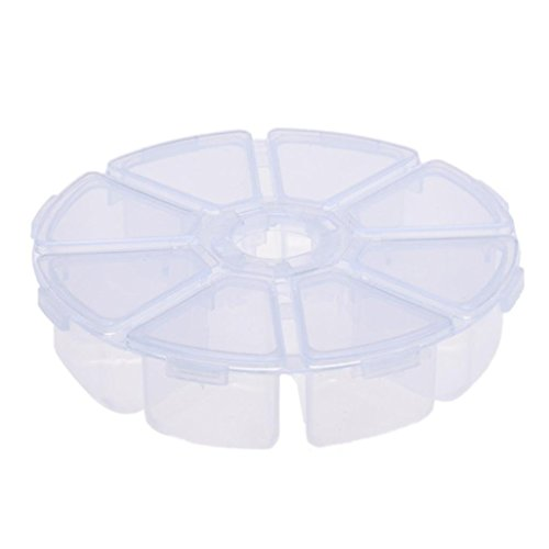 Fulltime® 8 Grids plastique Boîte de rangement de bureau boîte de rangement de bijoux