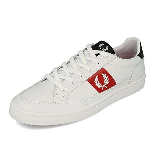 Fred Perry Deuce Leather White White 46
