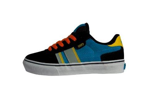 DVS Shoes Kids Milan2 CT DVF0000103 Jungen Sportschuhe - Skateboarding Schwarz (BLACK BLUE ORANGE SUEDE 001)