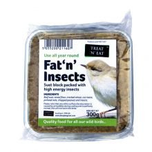 Treat 'N' Eat Suet & Insect Block Fat 'N' Insects (300g) by Sharples & Grant