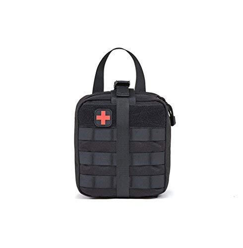 ESA Supplies Tactical Molle EMT Medical Erste Hilfe ifak Blowout Utility Pouch Schwarz Kompakt für Notfall zu Hause, im Freien, Auto, Camping (Nur Tasche) - Molle Medical Pouch