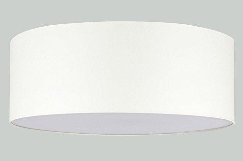 Deckenleuchte LED TISSU Stoffschirm 3-flammig Textil Rund Modern Creme 60cm -