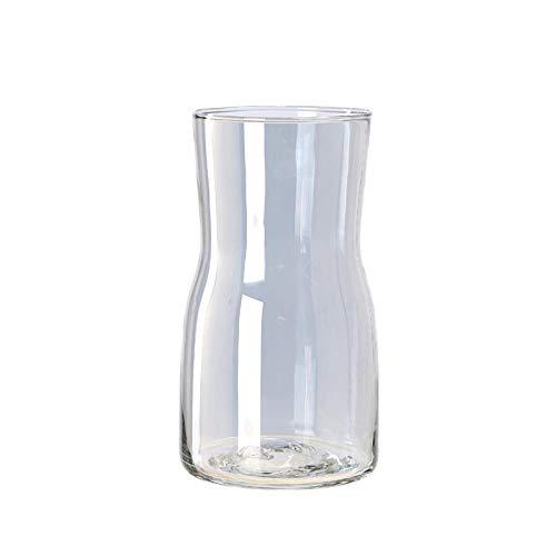 yeahbo Nordic Plating Creative Vase Glass Transparent Gold Flower Arrangement Decorative Ornaments Home Vase Decoration Pot Metal Plating