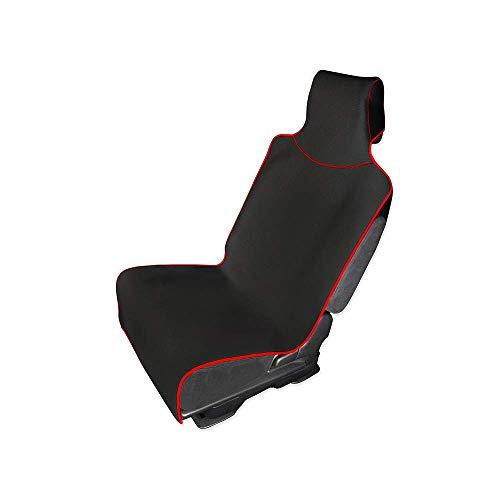 WANGLEISCC Autositzbezug und -Schutz mit Universal-Passform für Pkw-LKW und wasserdichtem Schutz in Schwarz mit roter Zierleiste