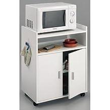 Muebles auxiliares de cocina baratos rebecca srl mesita de noche mueble auxiliar puertas madera - Mueble microondas carrefour ...
