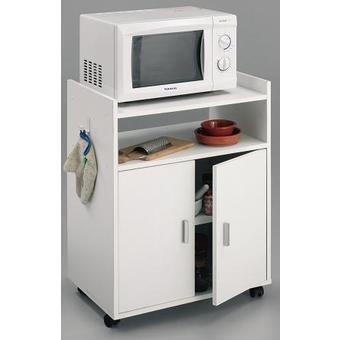 Mueble armario auxiliar de cocina para microondas color blanco