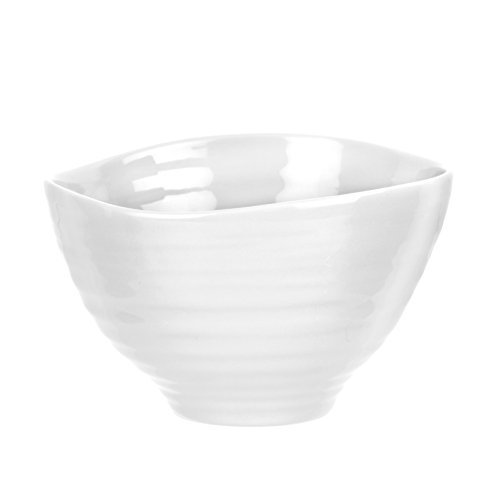 Portmeirion Sophie Conran White Small Footed Bowl by Portmeirion White-footed Bowl